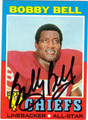BOBBY BELL AUTOGRAPHED VINTAGE FOOTBALL CARD #123011L