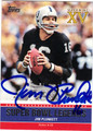 JIM PLUNKETT AUTOGRAPHED FOOTBALL CARD #123111K