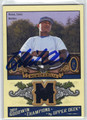 MICHAEL CHOICE AUTOGRAPHED PIECE OF THE GAME ROOKIE BASEBALL CARD #123111P