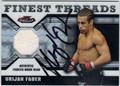 URIJAH FABER AUTOGRAPHED & NUMBERED PIECE OF THE GAME CARD #123112F