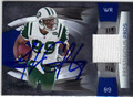 JERRICHO COTCHERY AUTOGRAPHED & NUMBERED PIECE OF THE GAME FOOTBALL CARD #123012E