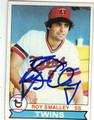 ROY SMALLEY III MINNESOTA TWINS AUTOGRAPHED VINTAGE BASEBALL CARD #123113i