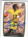 GENO SMITH NEW YORK JETS AUTOGRAPHED ROOKIE FOOTBALL CARD #123113H