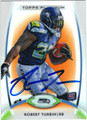 ROBERT TURBIN SEATTLE SEAHAWKS AUTOGRAPHED ROOKIE FOOTBALL CARD #12313A
