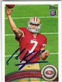 COLIN KAEPERNICK SAN FRANCISCO 49ers AUTOGRAPHED ROOKIE FOOTBALL CARD #12413B