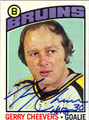 GERRY CHEEVERS BOSTON BRUINS AUTOGRAPHED VINTAGE HOCKEY CARD #123112Q