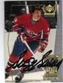 SERGE SAVARD MONTREAL CANADIENS AUTOGRAPHED HOCKEY CARD #12313E