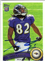 TORREY SMITH BALTIMORE RAVENS AUTOGRAPHED ROOKIE FOOTBALL CARD #12313G