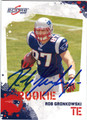 ROB GRONKOWSKI NEW ENGLAND PATRIOTS AUTOGRAPHED ROOKIE FOOTBALL CARD #12513E