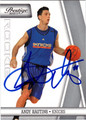 ANDY RAUTINS AUTOGRAPHED ROOKIE BASKETBALL CARD #12612A