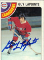 GUY LAPOINTE AUTOGRAPHED VINTAGE HOCKEY CARD #12612G