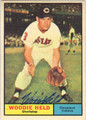 WOODIE HELD AUTOGRAPHED VINTAGE BASEBALL CARD #12612i