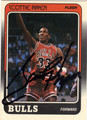 SCOTTIE PIPPEN CHICAGO BULLS AUTOGRAPHED ROOKIE BASKETBALL CARD #12613E