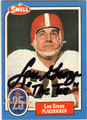 LOU GROZA CLEVELAND BROWNS AUTOGRAPHED FOOTBALL CARD #12613J