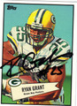 RYAN GRANT AUTOGRAPHED FOOTBALL CARD #12711F