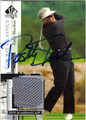 PATTY SHEEHAN AUTOGRAPHED PIECE OF THE GAME GOLF CARD #12713i