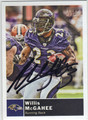 WILLIS McGAHEE BALTIMORE RAVENS AUTOGRAPHED FOOTBALL CARD #12813F