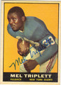 MEL TRIPLETT NEW YORK GIANTS AUTOGRAPHED VINTAGE FOOTBALL CARD #12813E