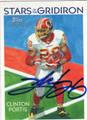 CLINTON PORTIS WASHINGTON REDSKINS AUTOGRAPHED FOOTBALL CARD #12813M