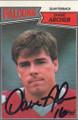 Dave Archer Autographed Football Card 1287