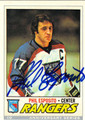 PHIL ESPOSITO NEW YORK RANGERS AUTOGRAPHED HOCKEY CARD #12913i