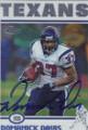 Domanick Davis Autographed Football Card 1303