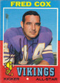 Fred Cox Autographed Vintage Football Card 1351