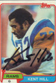 Kent Hill Autographed Football Card 1455