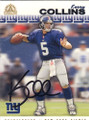Kerry Collins Autographed Football Card 1456