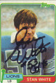 Stan White Autographed Football Card 1617