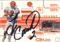 Tim Couch Autographed Football Card 1641
