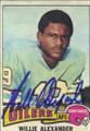 Willie Alexander Autographed Football Card 1691