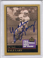 Yale Larry Autographed Football Card 1787
