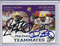 JaMarcus Russell & Dwayne Bowe Dual Autographed Rookie Football Card 2024