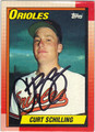 CURT SCHILLING BALTIMORE ORIOLES AUTOGRAPHED BASEBALL CARD #20313M