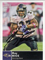 RAY RICE BALTIMORE RAVENS AUTOGRAPHED FOOTBALL CARD #20413E