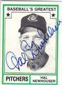 HAL NEWHOUSER DETROIT TIGERS AUTOGRAPHED VINTAGE BASEBALL CARD #20513E