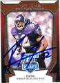 RAY LEWIS BALTIMORE RAVENS AUTOGRAPHED FOOTBALL CARD #20313G