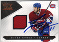 SCOTT GOMEZ MONTREAL CANADIENS AUTOGRAPHED & NUMBERED PIECE OF THE GAME HOCKEY CARD #20313i
