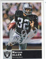 MARCUS ALLEN LOS ANGELES RAIDERS AUTOGRAPHED FOOTBALL CARD #20613Q