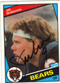 JIM McMAHON CHICAGO BEARS AUTOGRAPHED FOOTBALL CARD #20713C