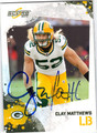 CLAY MATTHEWS AUTOGRAPHED FOOTBALL CARD #20811L