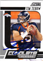 TIM TEBOW AUTOGRAPHED FOOTBALL CARD #20812J
