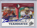 Lorenzo Booker & Lawrence Timmons Dual Autographed Football Card 2082