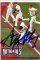 STEPHEN STRASBURG AUTOGRAPHED ROOKIE BASEBALL CARD #20911D