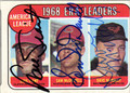LUIS TIANT, SAM McDOWELL & DAVE McNALLY TRIPLE AUTOGRAPHED VINTAGE BASEBALL CARD #20912O
