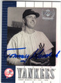 TOMMY HENRICH NEW YORK YANKEES AUTOGRAPHED BASEBALL CARD #21113C