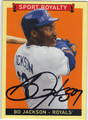 BO JACKSON KANSAS CITY ROYALS AUTOGRAPHED BASEBALL CARD #21113E
