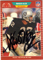 MARCUS ALLEN LOS ANGELES RAIDERS AUTOGRAPHED FOOTBALL CARD #21113D