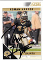 ROMAN HARPER AUTOGRAPHED FOOTBALL CARD #21212M